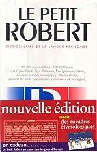 Petit Robert 1 by Paul Robert