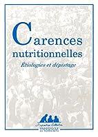 Carences nutritionnelles étiologies et…