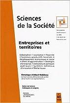 Entreprises et territoires, sciences de la…