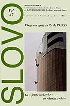 Slovo, N° 36 : Vingt ans après la fin de…