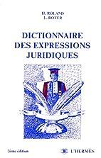 Dictionnaire des expressions juridiques by…