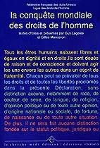 La conquete mondiale des droits de l homme…