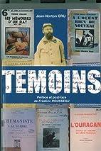 Témoins by Jean Norton Cru