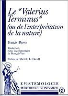 Le Valerius Terminus (de l'interprétation…
