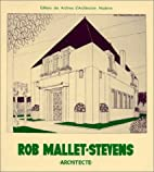 Rob Mallet-Stevens Architect