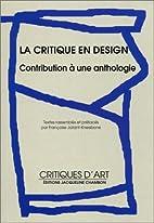 La critique en design : Contribution à une…