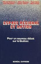 Espace régional et nation : pour un nouveau…