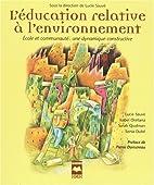 L'éducation relative à l'environnement :…