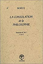 La consolation de la philosophie by VI°s.)…