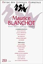 Revue des Sciences Humaines - Maurice…