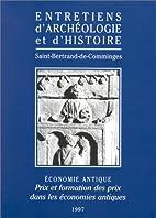 Economie antique: Prix et formation des prix…