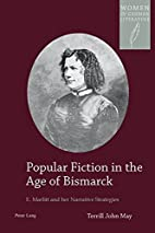 Popular Fiction in the Age of Bismarck: E.…