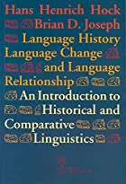 Language History, Language Change, and…