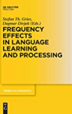 Frequency Effects in Language: Volume 1:…
