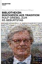 Bayerische Staatsbibliothek: Festschrift Zum…