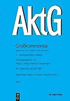 Aktiengesetz / §§ 394-395; EG-AktG…