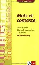 Mots et contexte by Wolfgang Fischer