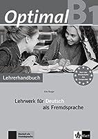 Optimal: Lehrerhandbuch B1 MIT CD-Rom…