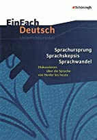 EinFach Deutsch Unterrichtsmodelle:…
