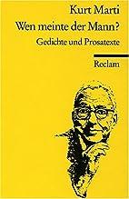 Wen Meinte Der Mann?: Vol 3 (German Edition)…