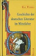 Geschichte der deutschen Literatur im…