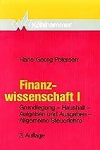 Finanzwissenschaft, Bd.1, Grundlegung,…