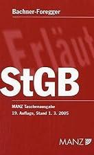 Strafgesetzbuch ( StGB) by Helene…