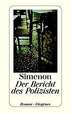 Le rapport du gendarme by Georges Simenon