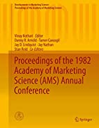 Proceedings of the 1982 Academy of Marketing…
