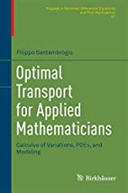 Optimal Transport for Applied Mathematicians…