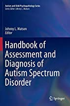Handbook of Assessment and Diagnosis of…