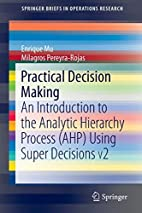 Practical Decision Making: An Introduction…