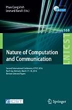 Nature of Computation and Communication:…