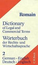 Wörterbuch der Rechts- und…