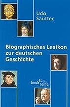 Biographisches Lexikon zur deutschen…