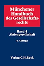 Münchener Handbuch des Gesellschaftsrechts…