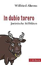 In dubio torero: Neue juristische…