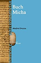Das Buch Micha (Edition C/AT/Band 40) by…