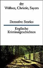 Dtv Zweisorachio: Detective Stories Wallace…