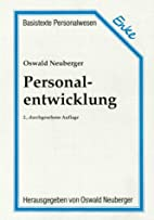 Personalentwicklung by Oswald Neuberger