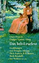 Das btb Lesefest. Erzählungen. by Clare…