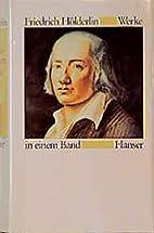 Werke in einem Band by Friedrich Hölderlin