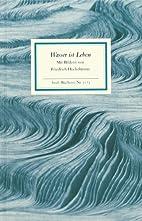 Wasser ist Leben by Friedrich Hechelmann