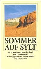 Sommer auf Sylt by Ernst Penzoldt