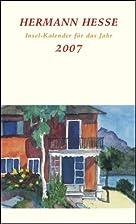 Hermann Hesse Insel-Kalender für das Jahr…