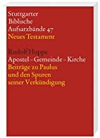 Apostel - Gemeinde - Kirche: Beiträge…