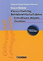 Klausurtraining Betriebswirtschaftslehre.…