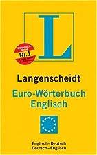 Langenscheidts Eurowörterbuch, Englisch,…