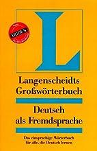 Langenscheidts Großwörterbuch: Deutsch als…