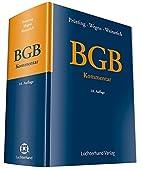 BGB Kommentar by Hermann Luchterhand Verlag